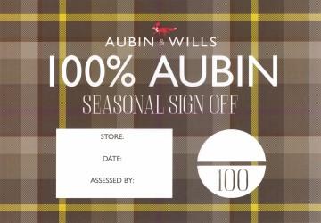 Final cover design using the Aubin & Wills tartan fabric swatch